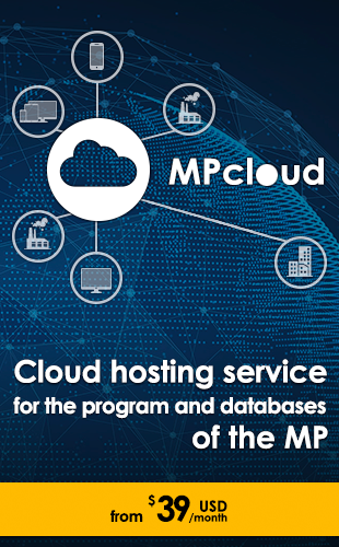 Cloud hosting service of the MP