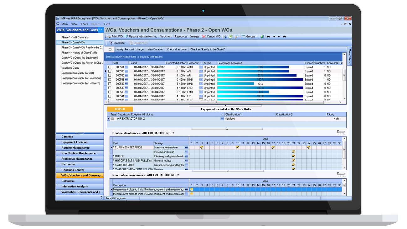 CMMS MPsoftware work orders administration