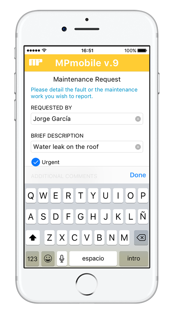Send maintenance requests to your MP program from your mobile device.
